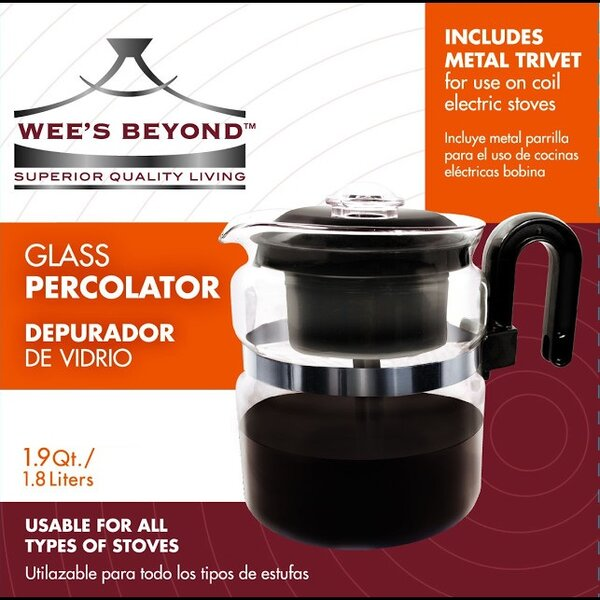 Stove Top Percolator Coffee Maker by Wee's Beyond