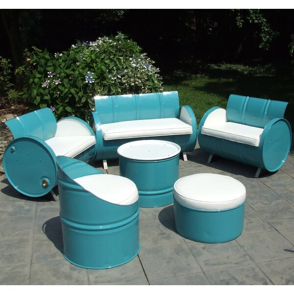 Del Ray 6 Piece Sofa Set with Cushions by Drum Works Furniture