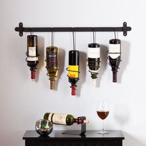 Justis 5 Bottle Wall Mounted Wine Rack by Latitude Run