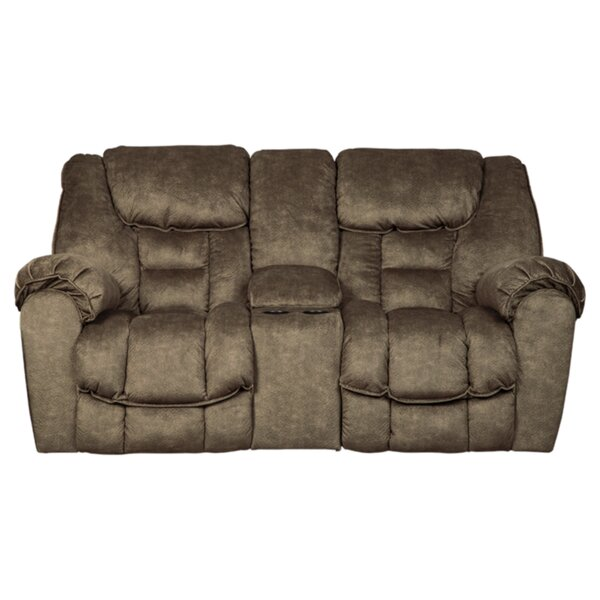 Behr Leather Reclining Sofa By Orren Ellis Deals With