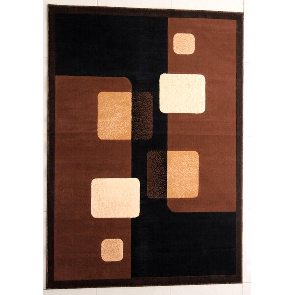 Briner Black Area Rug by Ebern Designs