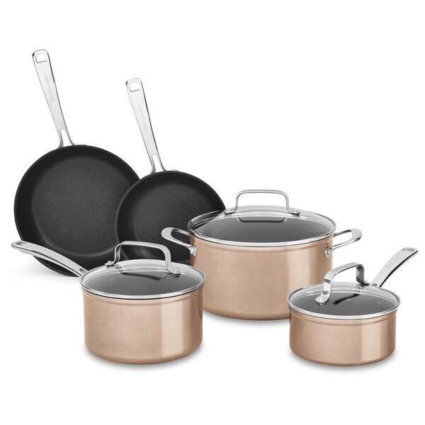 8 Piece Hard Anodized Non-Stick Cookware Set by KitchenAid