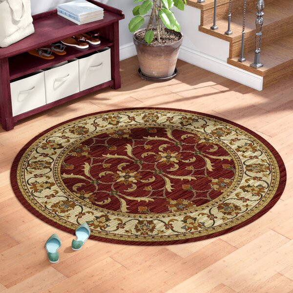 Antwerp Red Ivory Agra Area Rug By Charlton Home.