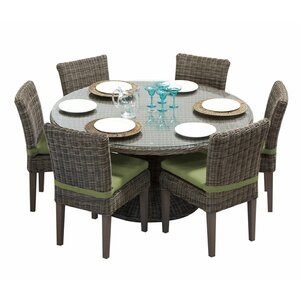 Cape Cod 7 Piece Dining Set with Cushions