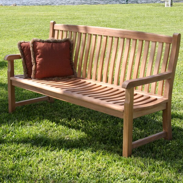 Teak Garden Bench by Douglas Nance