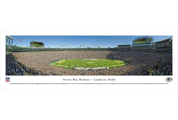 NFL Green Bay Packers - 50 Yard Photographic Print by Blakeway Worldwide Panoramas, Inc