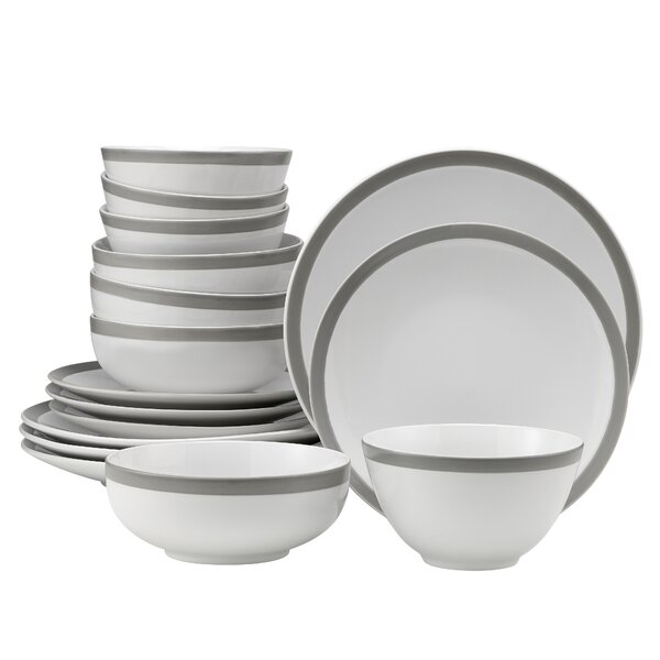 Violet 16 Piece Dinnerware Set, Service for 4 by Charlton Home