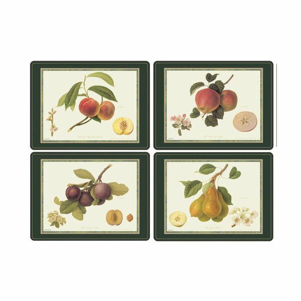 Hooker Fruits Placemat (Set of 4) by Pimpernel