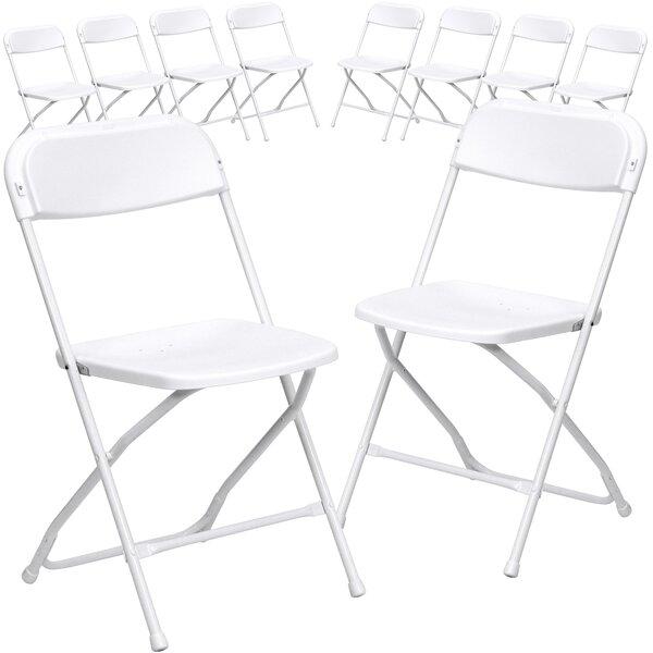 Laduke Plastic Folding Chair (Set of 10) by Symple Stuff