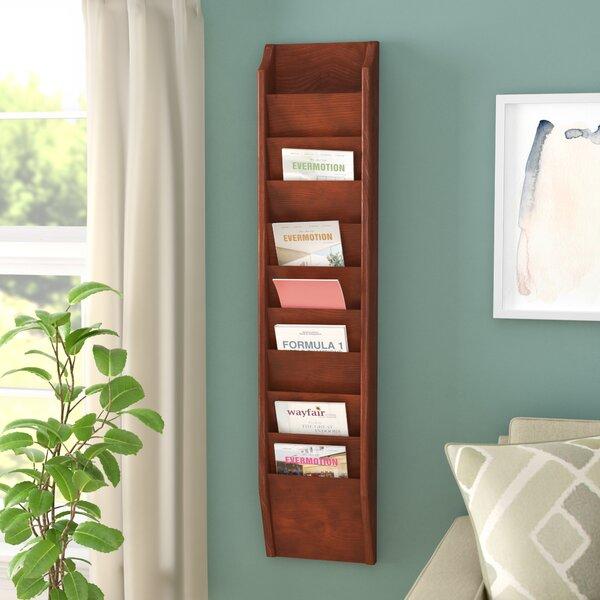 10 Pocket Wall Mount Magazine Rack by Rebrilliant