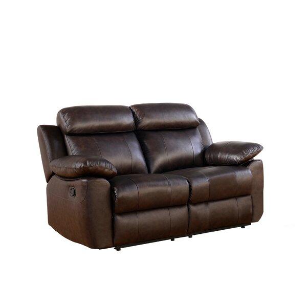 Home Décor Bima Reclining 63.8 Pillow Top Arms Loveseat