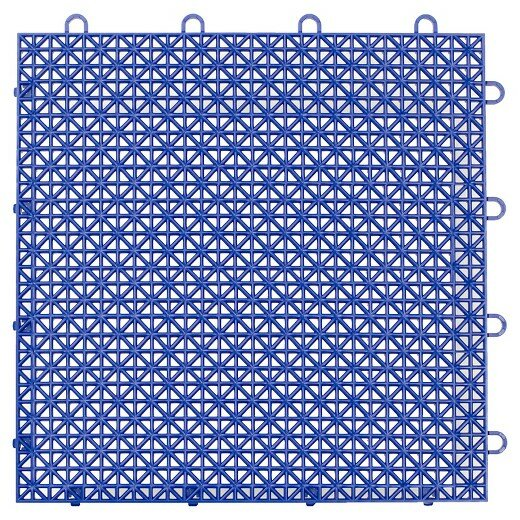 Armadillo Floor 12.63 x 12.63 Floor Tile in Cobalt Blue by Master Mark Plastics