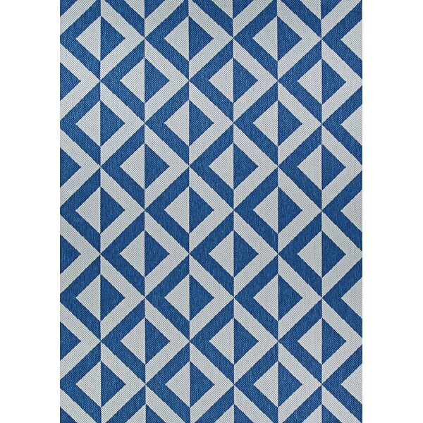 Schulte Sea and Dune Blue/Brown Indoor/Outdoor Area Rug by Breakwater Bay