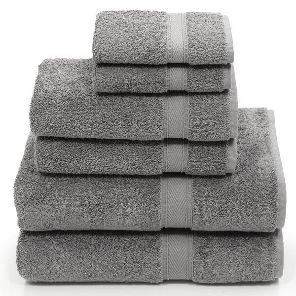 Toscano 6 Piece Turkish Cotton Towel Set by Latitude Run