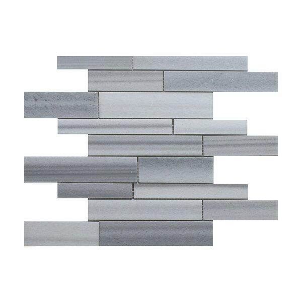 Equator Strip Bar Random Sized Marble Mosaic Tile in Gray by Seven Seas