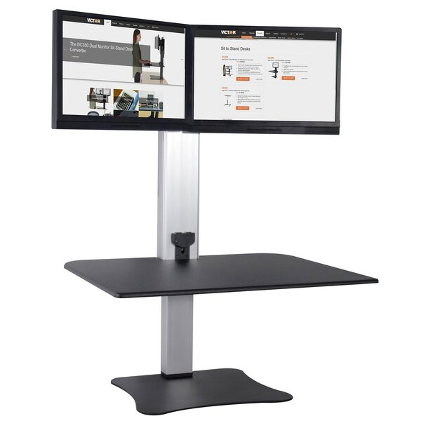 Octavius Electric Dual Monitor Standing Desk by Symple Stuff