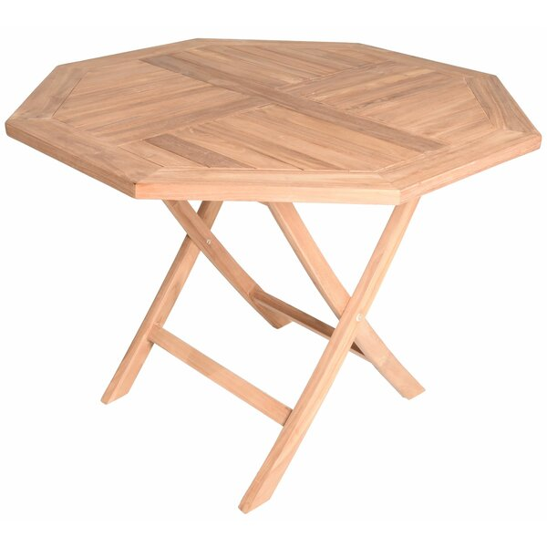 Cosmo Octagonal Folding Teak Dining Table by August Grove