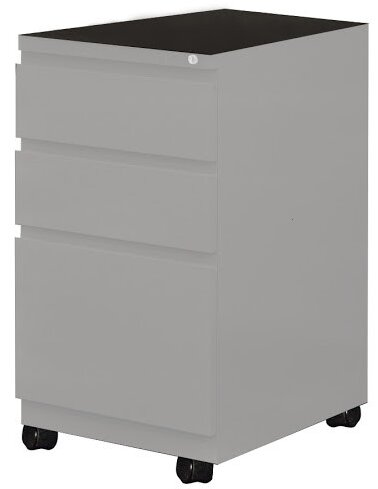 3-Drawer Mobile Vertical Filing Cabinet by Mayline Group