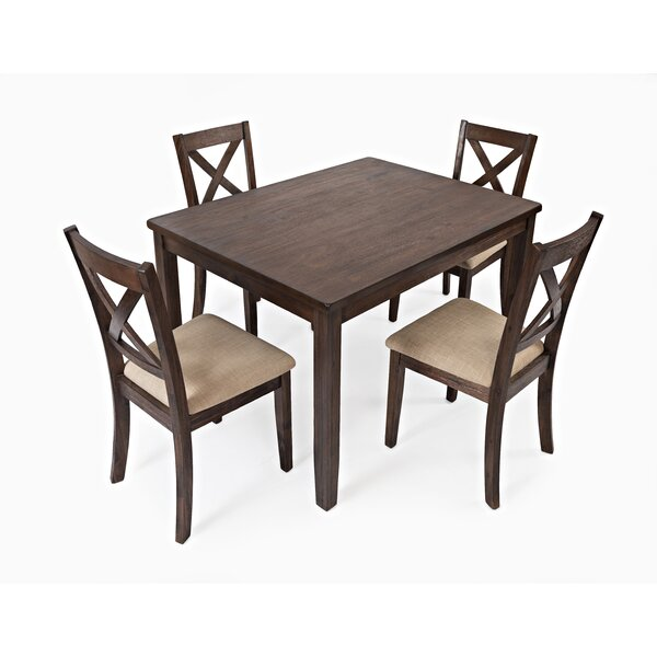 Lahr Creek 5 Pieces Solid Wood Dining Set by Gracie Oaks Gracie Oaks