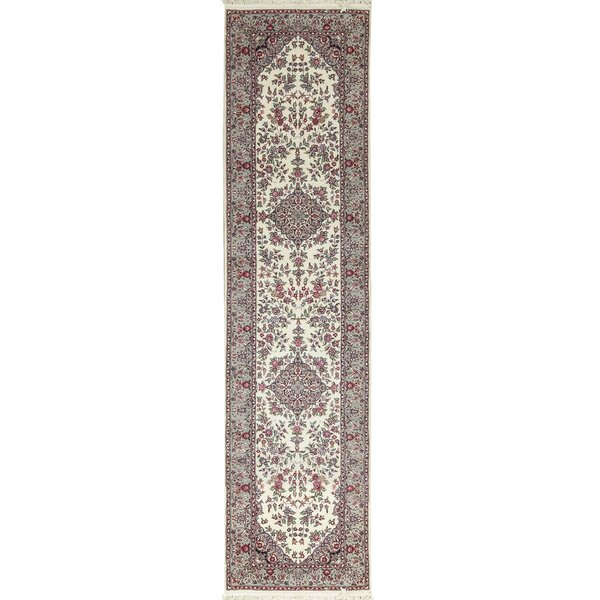 One-of-a-Kind Sarouk Hand-Knotted Wool Beige/Red Indoor Area Rug by Bokara Rug Co., Inc.