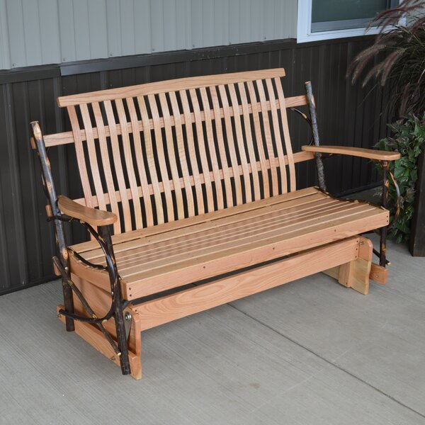 Valeria Hickory Porch Glider Bench by Loon Peak