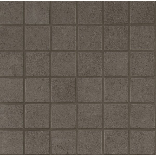 Dimensions 2 x 2 Porcelain Mosaic Tile in Glazed Gray by MSI