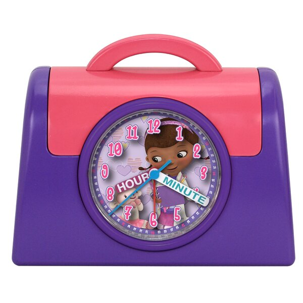 Doc McStuffins Quartz Analog Bank Alarm Clock by Ashton Sutton