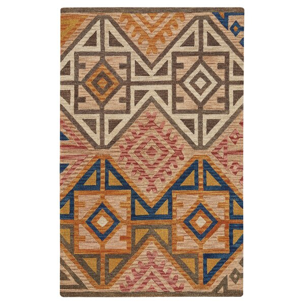 Oribe Hand-Tufted Wool Brown/Beige Area Rug by Loon Peak