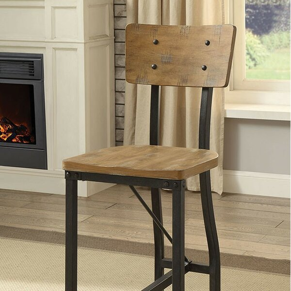 Della Counter Height Dining Chair (Set of 2) by 17 Stories