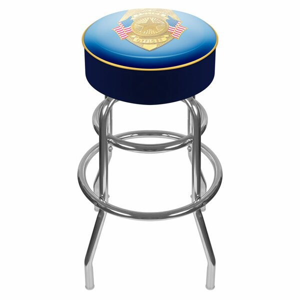 Police Officer 31 Swivel Bar Stool by Trademark Global