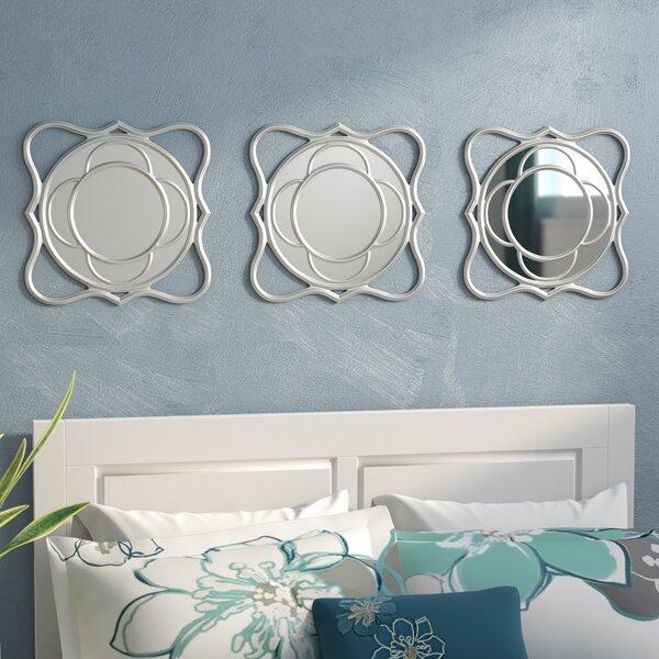 3 Piece Swirl Mirror Set (Set of 3) by Zipcode Design