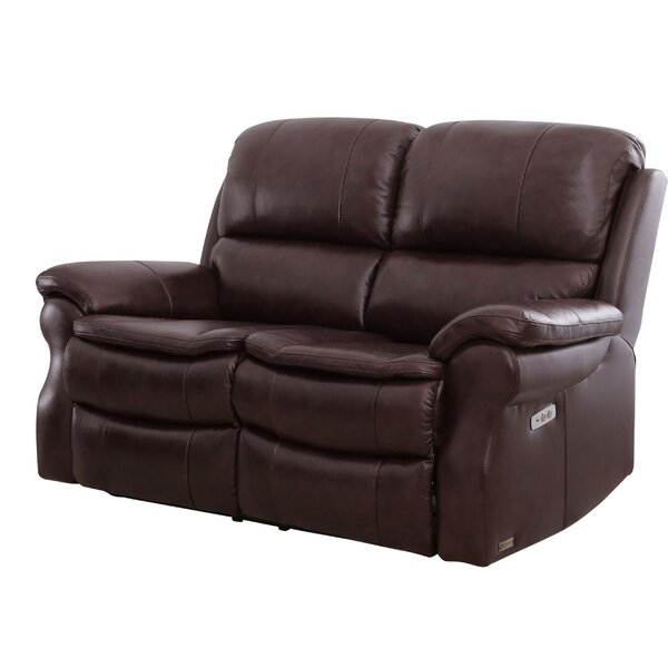 Ozell Leather Reclining 65 Inches Pillow Top Arms Loveseat By Winston Porter