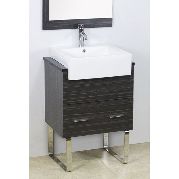 Mulberry Floor Mount 23 Single Bathroom Vanity Set by Royal Purple Bath Kitchen