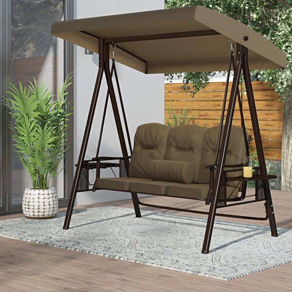 Folkston Outdoor Canopy Porch Swing with Stand by Freeport Park