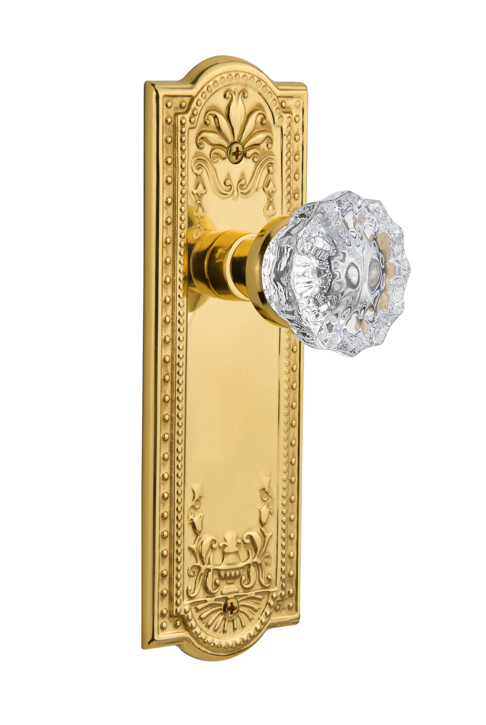 Nostalgic Warehouse Crystal Glass Privacy Door Knob with Meadows ...