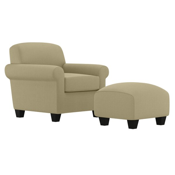 Aine 19.5-inch Armchair and Ottoman by Andover Mills Andover Mills