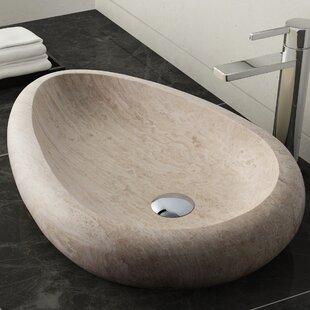 Look for Colstrip Stone Oval Vessel Bathroom Sink By Maykke