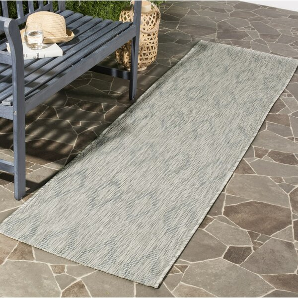 Davy Geometric Gray Indoor/Outdoor Area Rug by Greyleigh