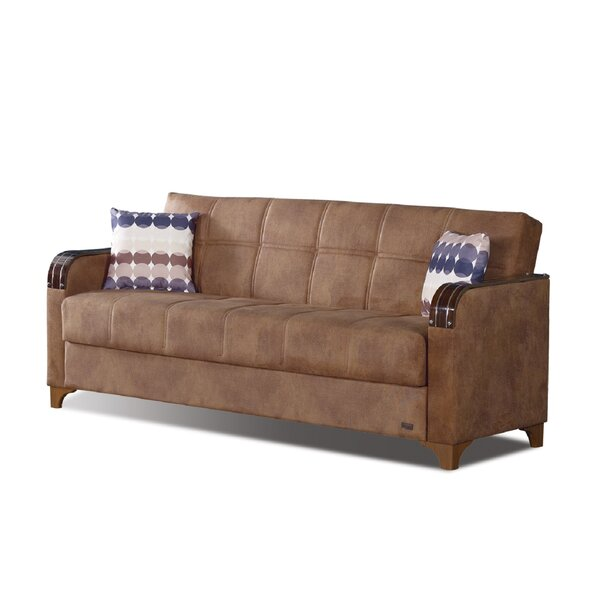Meaney Microsuede Sofa Bed by Latitude Run