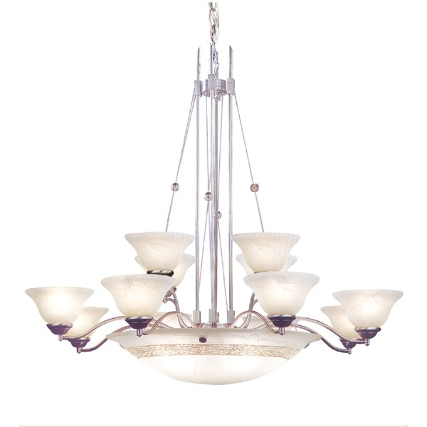 15 - Light Shaded Classic / Traditional Chandelier by JB Hirsch Home Decor JB Hirsch Home Decor