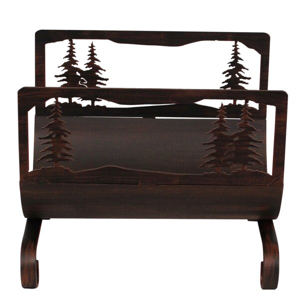 Feather Tree Wood Log Carrier by Coast Lamp Mfg.