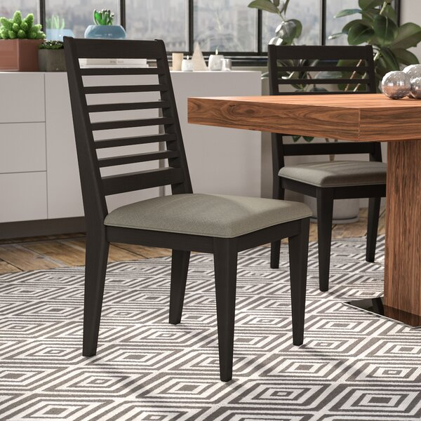 Riverdale Upholstered Slat Back Side Chair In Brown (Set Of 2) By Wade Logan