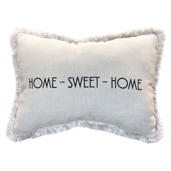 Vijaya Home Sweet Home Sunbrella Indoor / Outdoor Lumbar Pillow