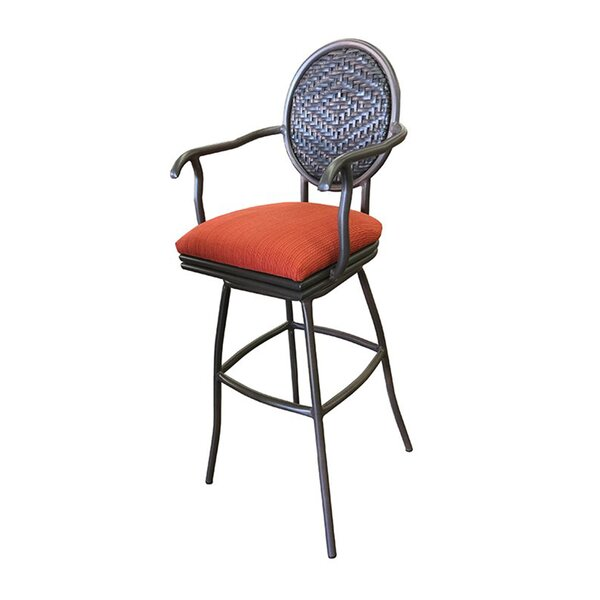 Adelle 30 Patio Bar Stool with Cushion by Tobias Designs