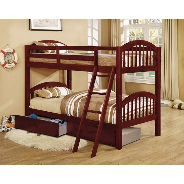 Jaylyn Twin over Twin Bunk Bed with Drawers by Harriet Bee