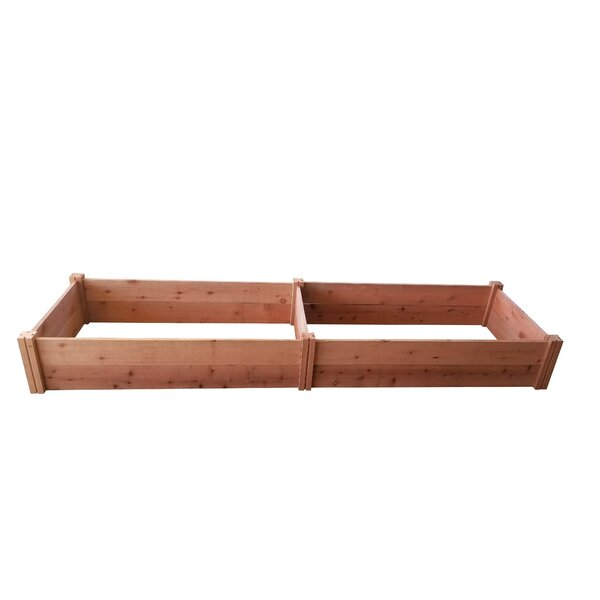Sherill 8ft x 2ft Redwood Wood Raised Garden by Darby Home Co