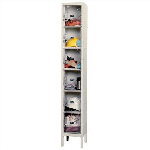 6 Tier 1 Wide Employee lockers by Hallowell