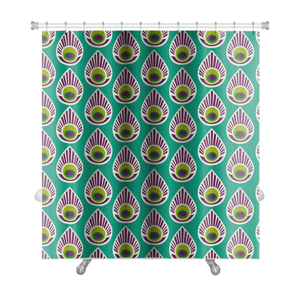 Charlie with Peacock Feather Premium Shower Curtain by Gear New