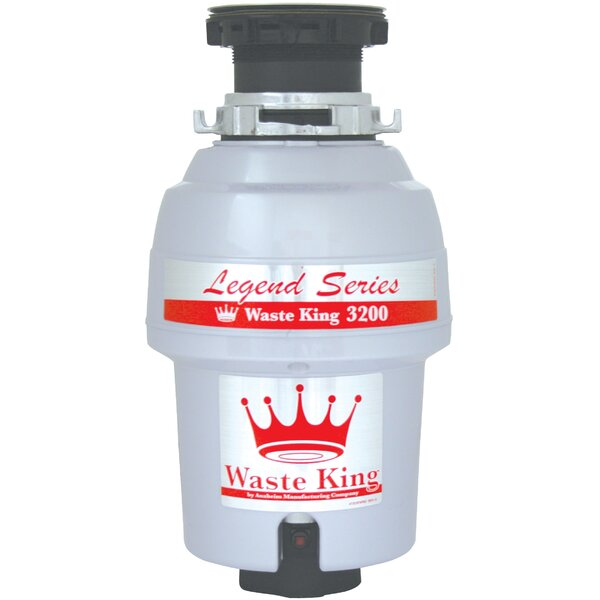 Legend Series EZ-Mount 3/4 HP Continuous Feed Garbage Disposal by Waste King