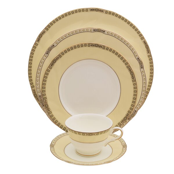Cassabianca 5 Piece Bone China Place Setting, Service for 1 (Set of 4) by Shinepukur Ceramics USA, Inc.